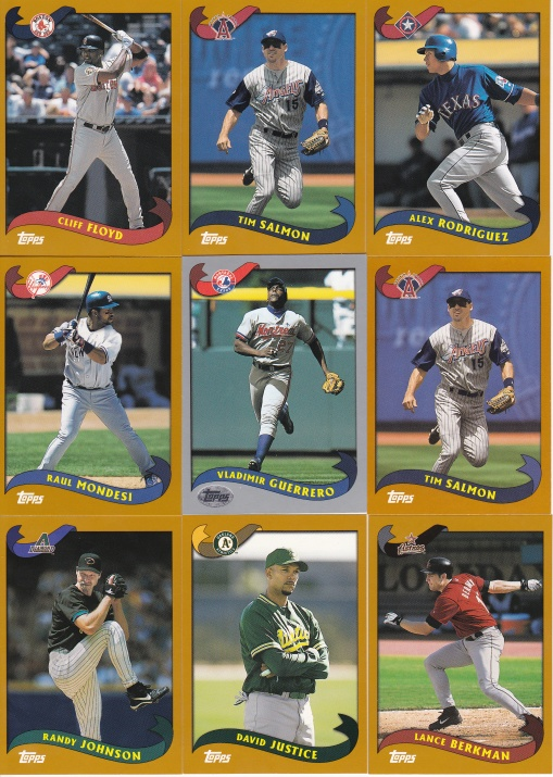 2002 Kanebo cards from 3 packs