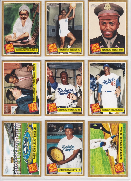 2011 Topps Heritage Jackie Robinson Special full set