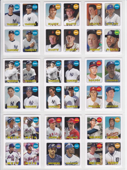 2013 Topps Archives 4-in-1 complete 2