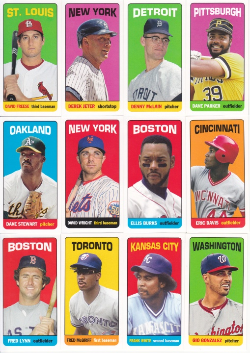 2013 Topps Archives 65FB Mini Tallboys complete 2