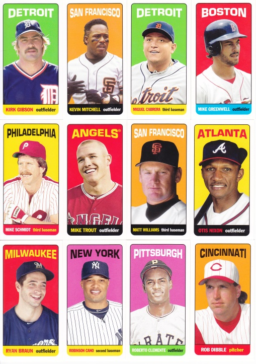 2013 Topps Archives 65FB Mini Tallboys complete 3
