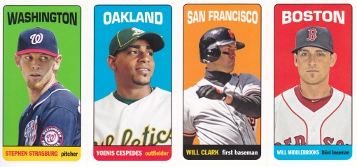 2013 Topps Archives 65FB Mini Tallboys complete 4