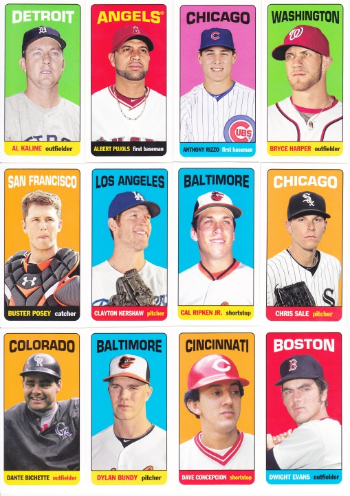 2013 Topps Archives 65FB Mini Tallboys complete