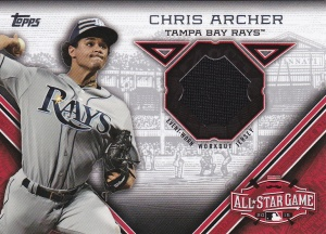 2015 Topps Update All-Star Stitch Chris Archer