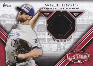 2015 Topps Update All-Star Stitch Wade Davis
