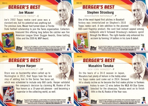 2016 Topps Bergers Best 2