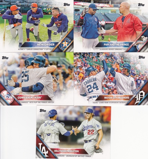 2016 Topps Checklists