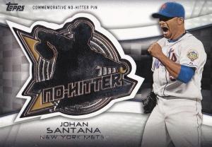 2016 Topps No Hitter Pin Johan Santana