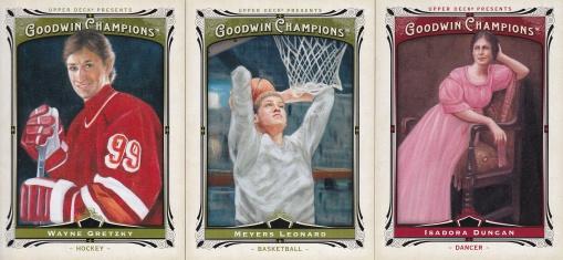 2013 Goodwin 1st card & hundreds