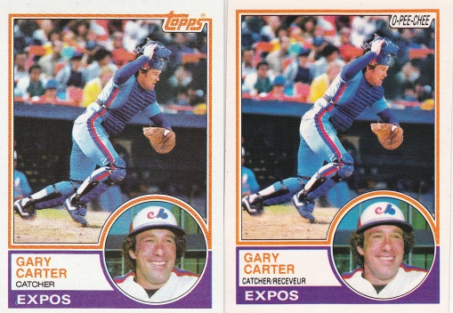 1983 Topps Gary Carter rainbow