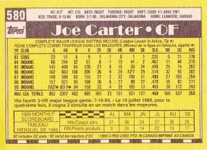 1990 O-Pee-Chee Joe Carter back