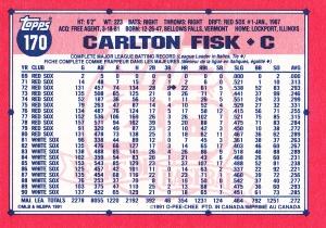 1991 OPC Fisk back