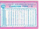1991 Topps Micro Fisk back