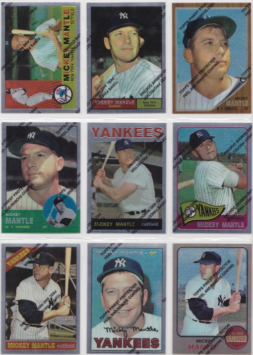 1996 97 Topps Mantle Finest complete 2