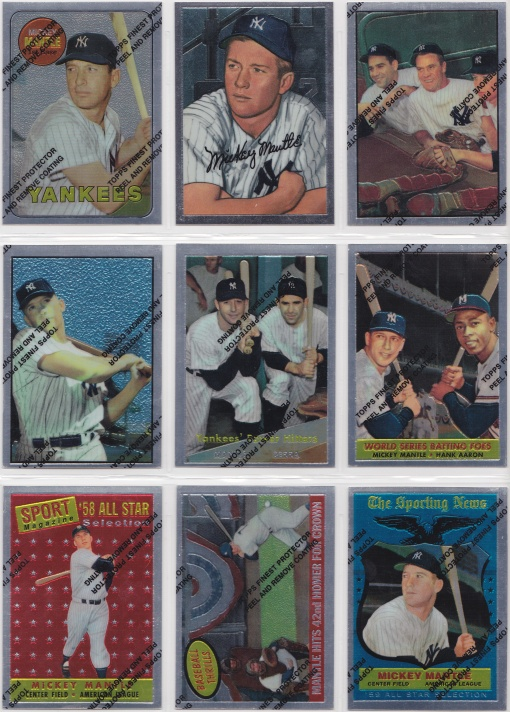 1996 97 Topps Mantle Finest complete 3