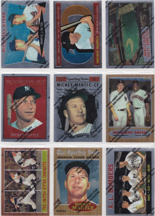 1996 97 Topps Mantle Finest complete 4