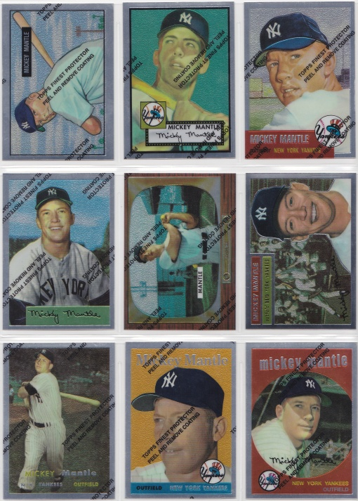 1996 97 Topps Mantle Finest complete