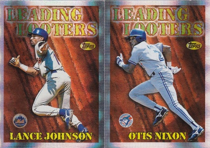1997 Topps Season Best Johnson Nixon