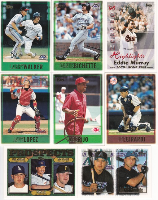 1997 Topps Wal-Mart box base cards