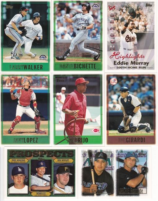 1997 Topps Wal-Mart box base cards