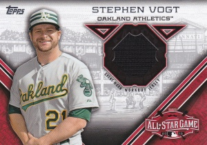 2015 Topps Update All-Star Stitch Steven Vogt