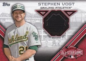 2015 Topps Update All-Star Stitch Steven Vogt