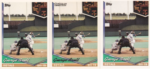 1994 Topps George Brett rainbow