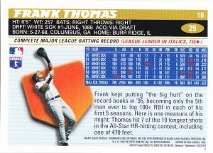 1996 Topps Chrome Frank Thomas back