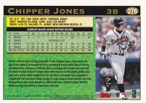 1997 Topps Chipper back