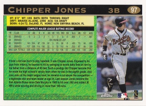 1997 Topps Chrome Chipper back
