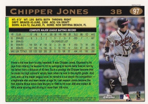 1997 Topps Chrome Refractor Chipper back