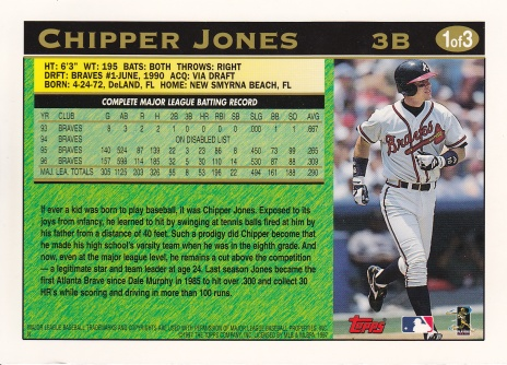 1997 Topps Jumbo Chipper back