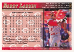 1998 Topps Chrome Larkin back