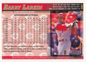 1998 Topps Chrome Refractor Larkin back
