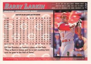 1998 Topps Opening Day Larkin back