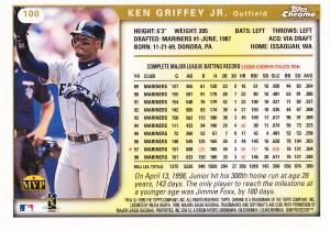 1999 Topps Chrome Griffey back
