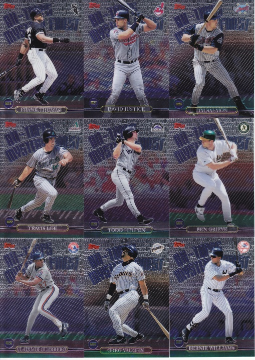 1999 Topps Mystery Finest complete 3