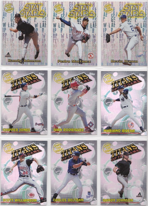 2000 Topps Own the Game complete 3