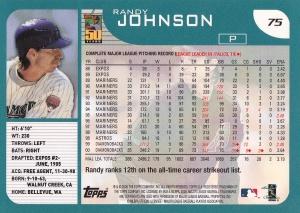 2001 Topps Randy Johnson back
