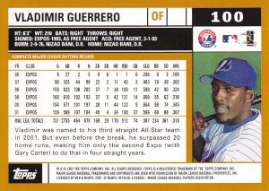 2002 Topps Vlad Guerrero back