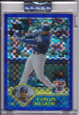 2003 Topps Chrome Uncirculated Xfractor Delgado
