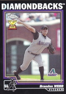 2004 Topps Chrome Black Refractor Webb