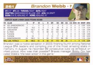 2004 Topps Chrome Webb back