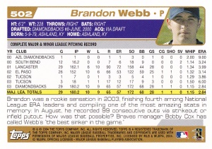 2004 Topps Webb back