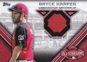 2015 Topps Update All-Star Stitch Bryce Harper