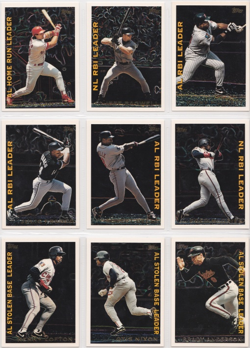 1995 Topps League Leaders complete 2
