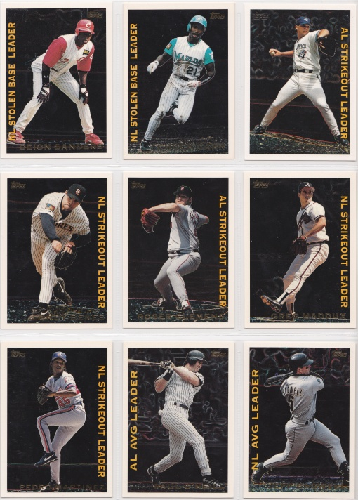 1995 Topps League Leaders complete 3