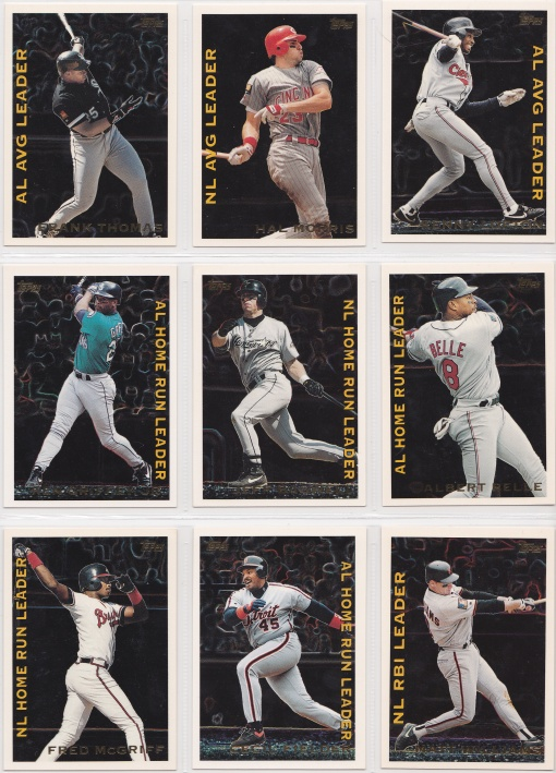 1995 Topps League Leaders complete 4