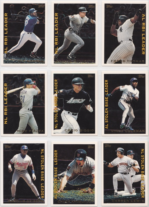 1995 Topps League Leaders complete 5