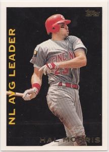 1995 Topps League Leaders Hal Morris